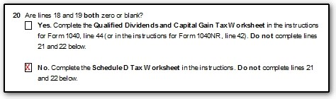 Line 44 No Tax or Tax Different than Tax Table in UltimateDR