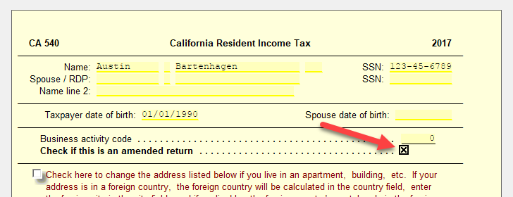 Amended CA Return – UltimateTax Solution Center